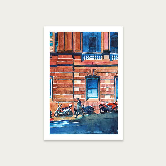 Man on the Street Art Print Unframed | Bombinate
