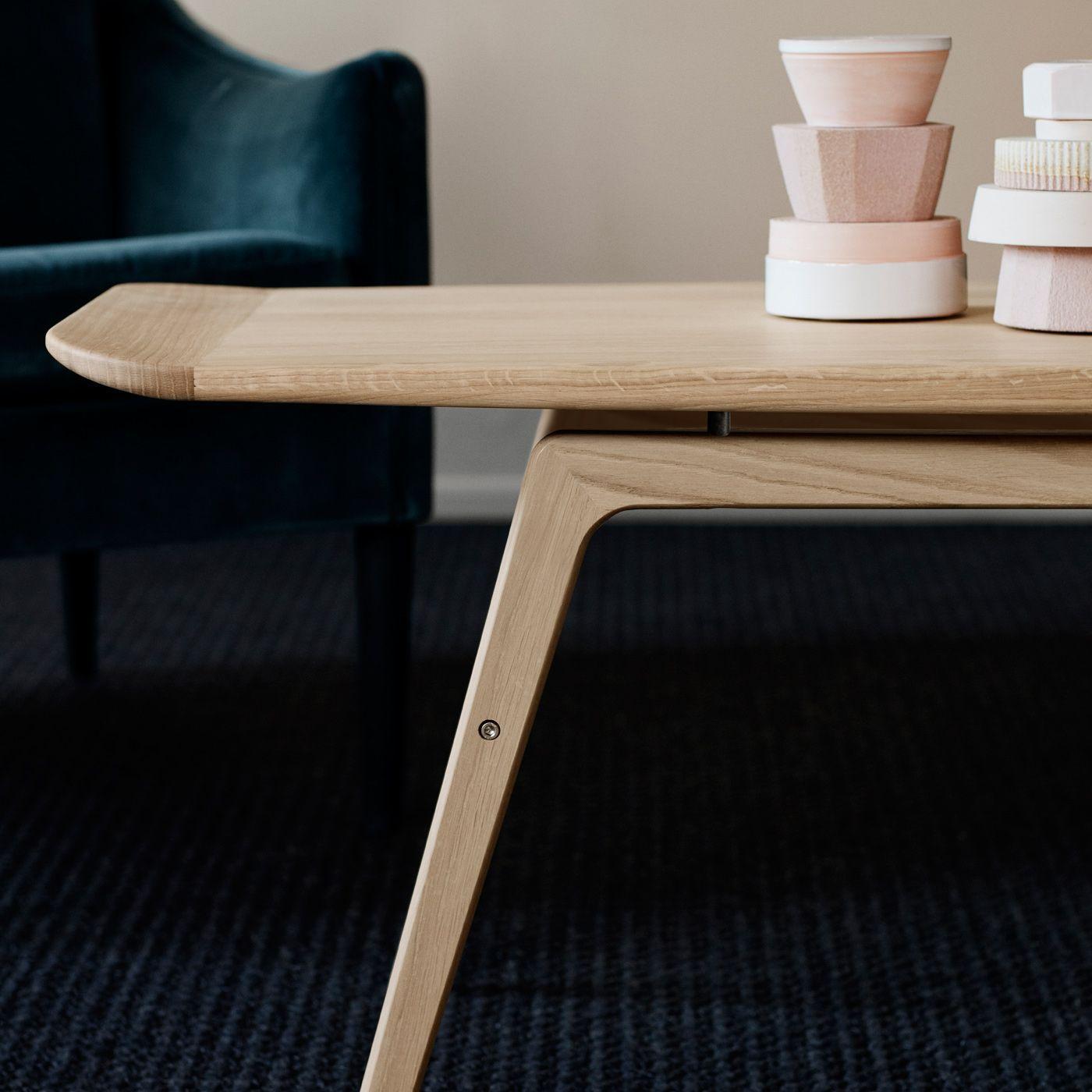 White oiled oak Surfboard Coffee Table | Bombinate