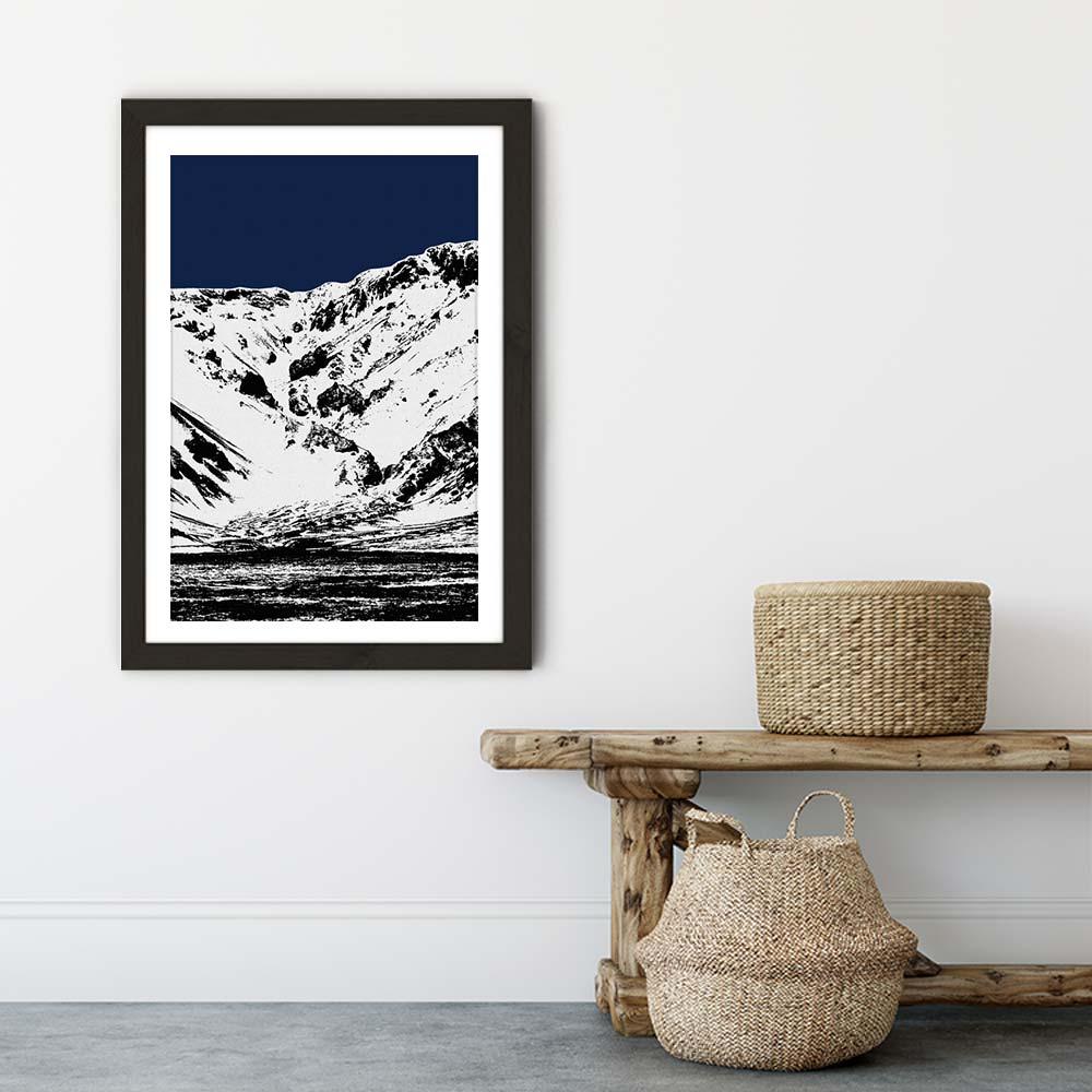 Blue Mountains II Art Print Black Frame   Bombinate