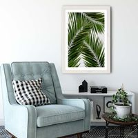 Palm Leaf III Art Print White Frame | Bombinate
