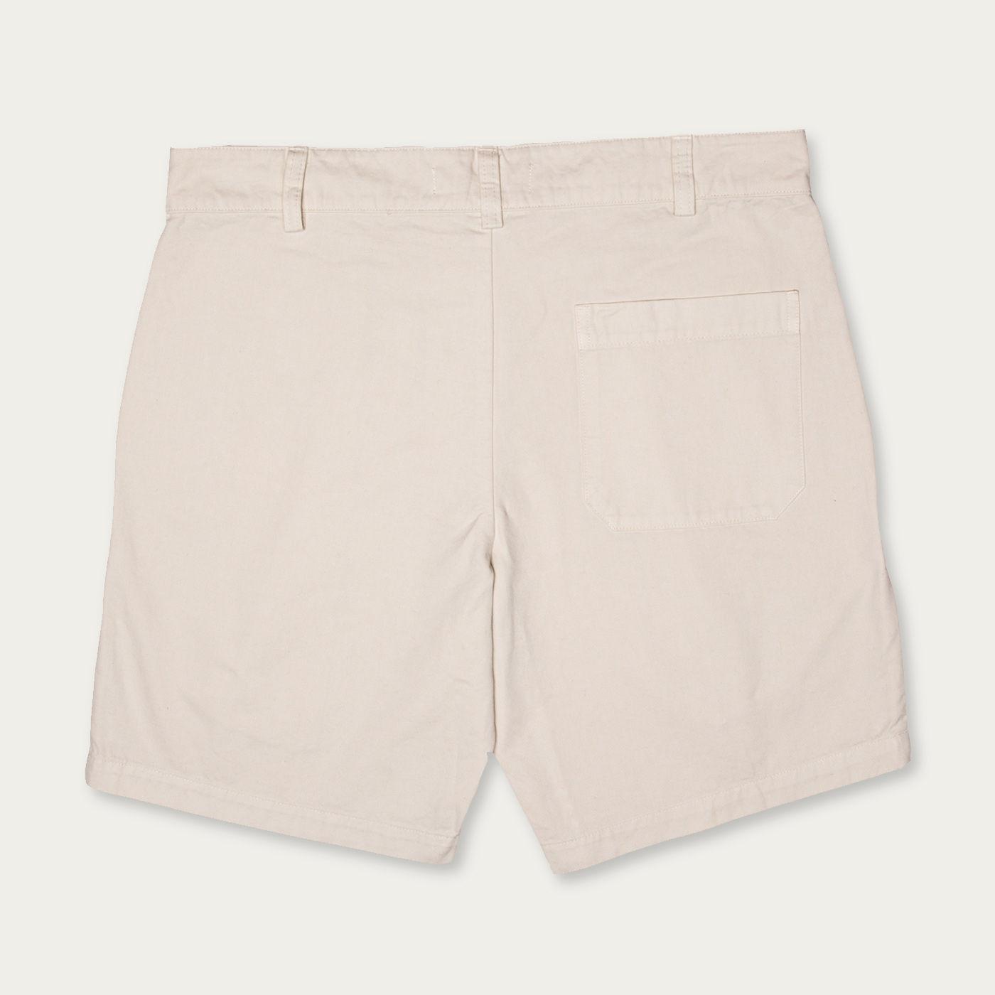 Cream Vintage Cotton Twill Walkshorts | Bombinate