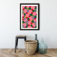 Plant Flowers Art Print Black Frame | Bombinate