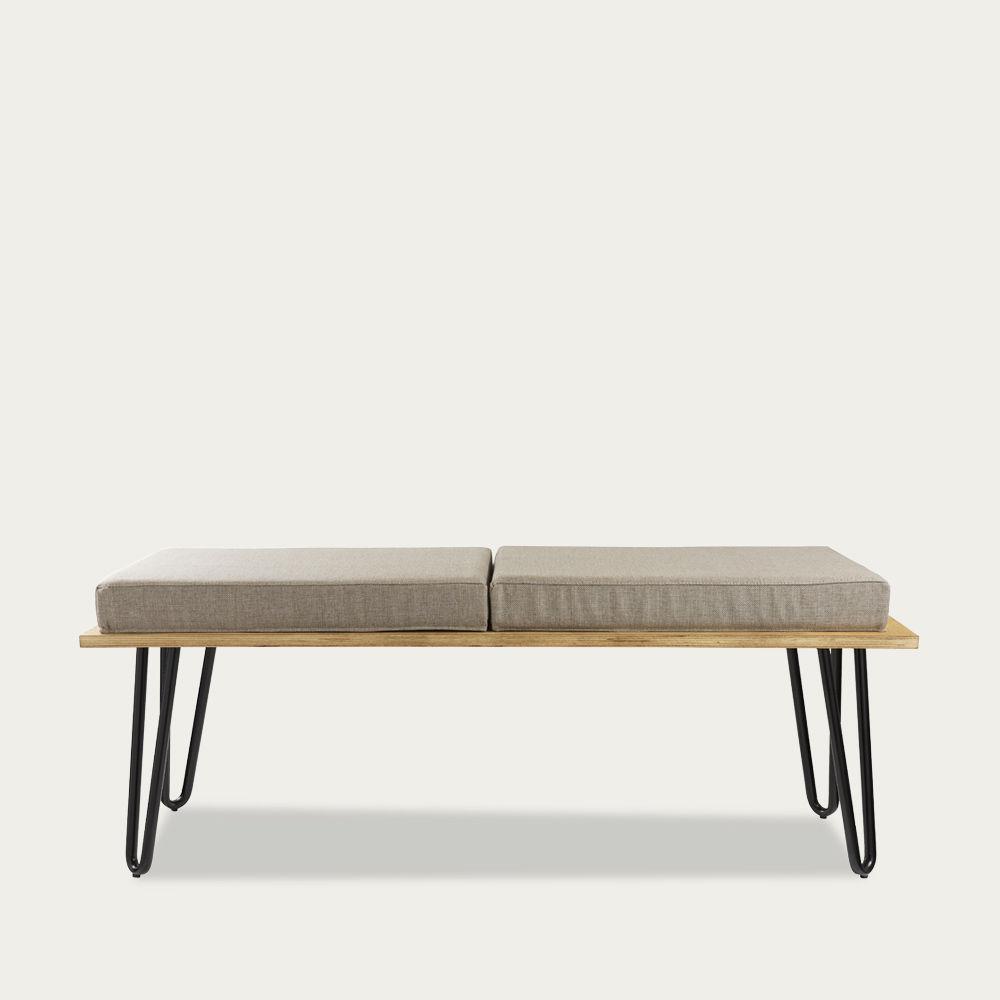 Grey Bench Corgi With Two Cushions FST0250 | Bombinate