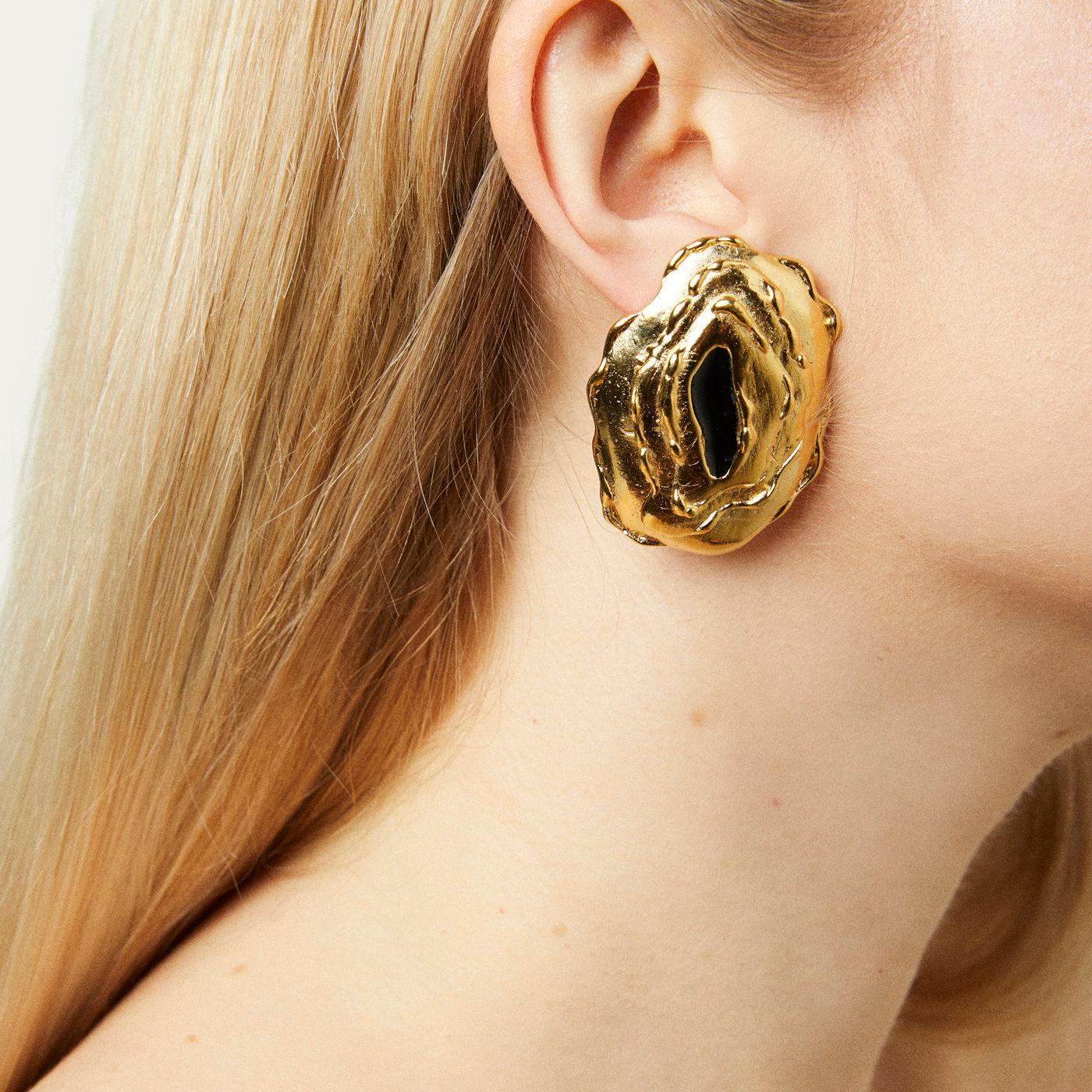 Gold Numa Earrings | Bombinate