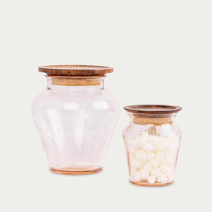 Kosa Pink Glass Jar | Bombinate