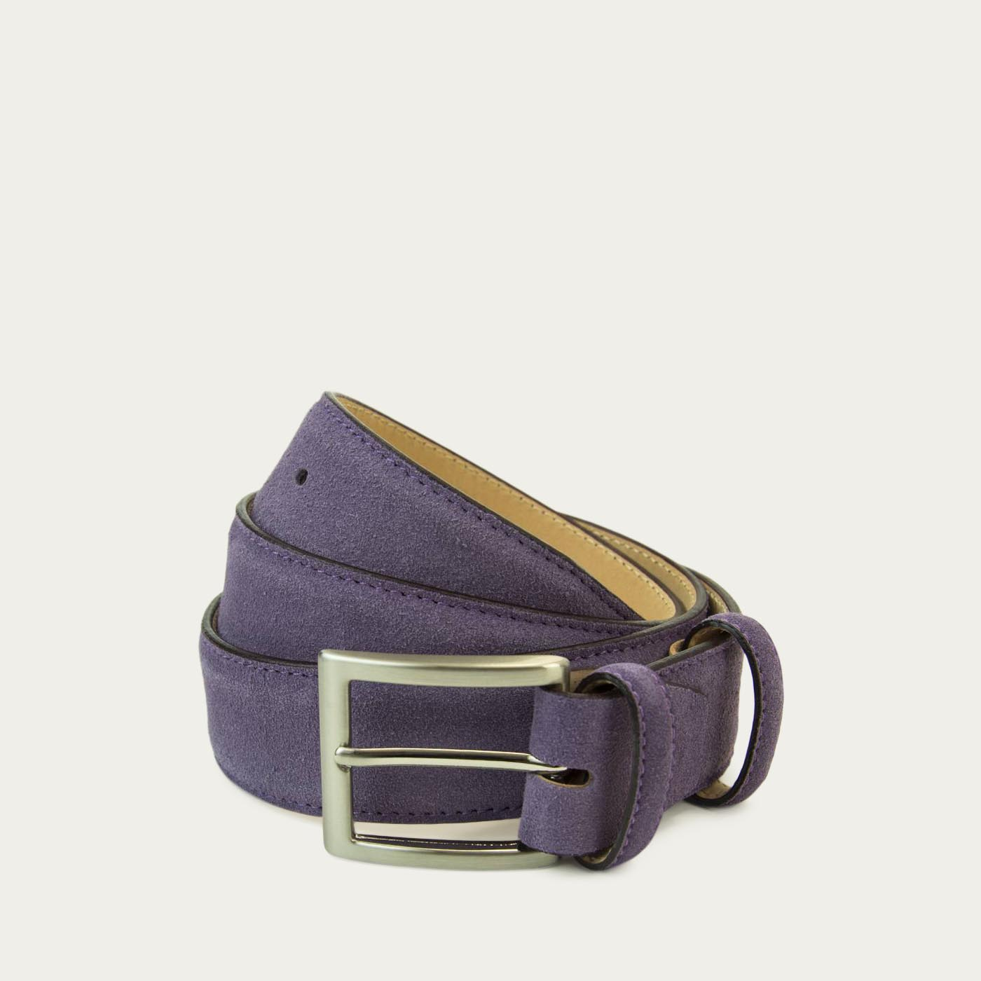 Purple Solid Suede Belt   | Bombinate