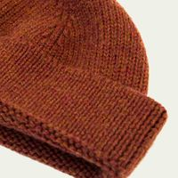 Rust Solid Wool Fisherman Beanie   | Bombinate