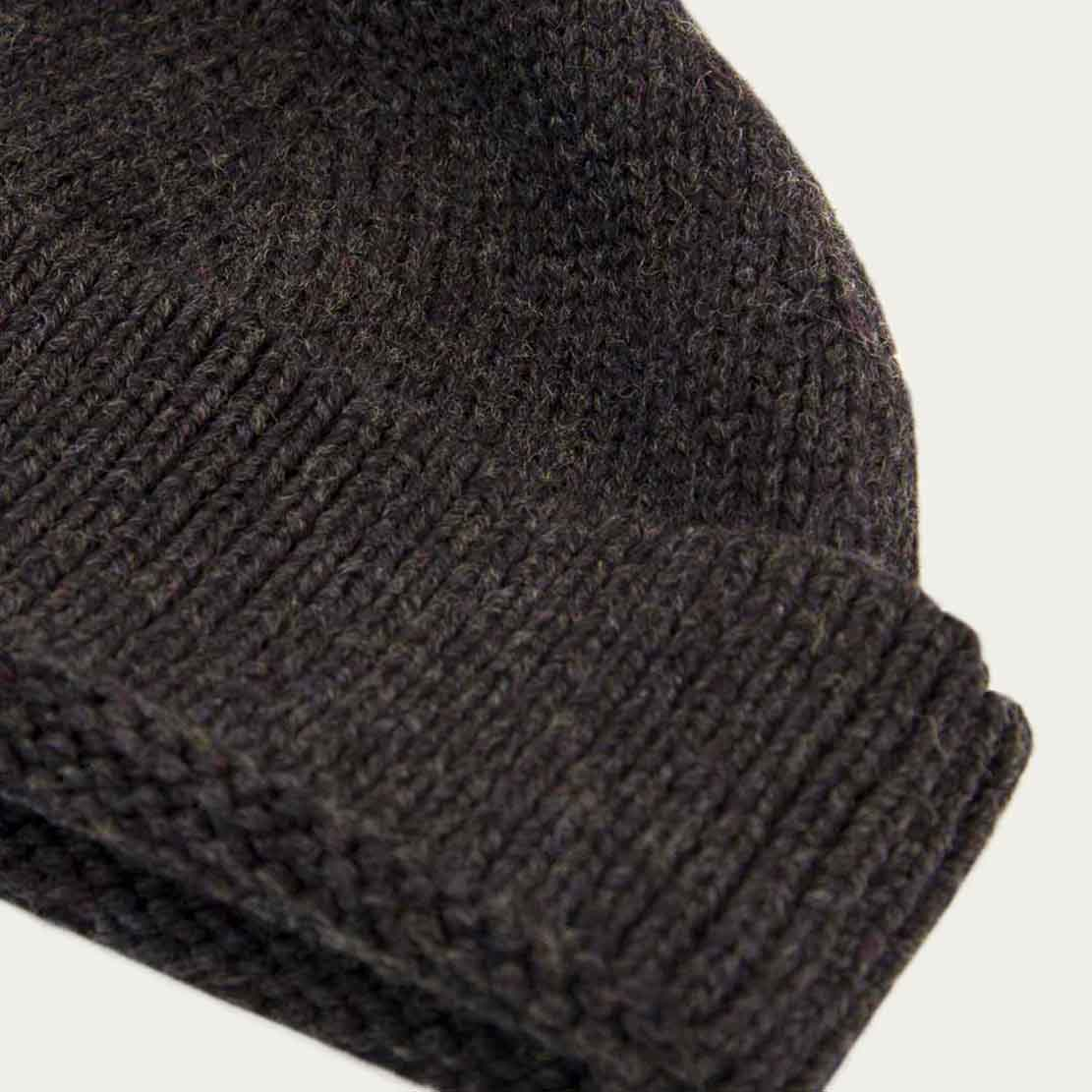 Charcoal Solid Wool Fisherman Beanie   | Bombinate