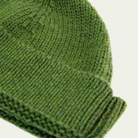 Olive Green Solid Wool Fisherman Beanie   | Bombinate