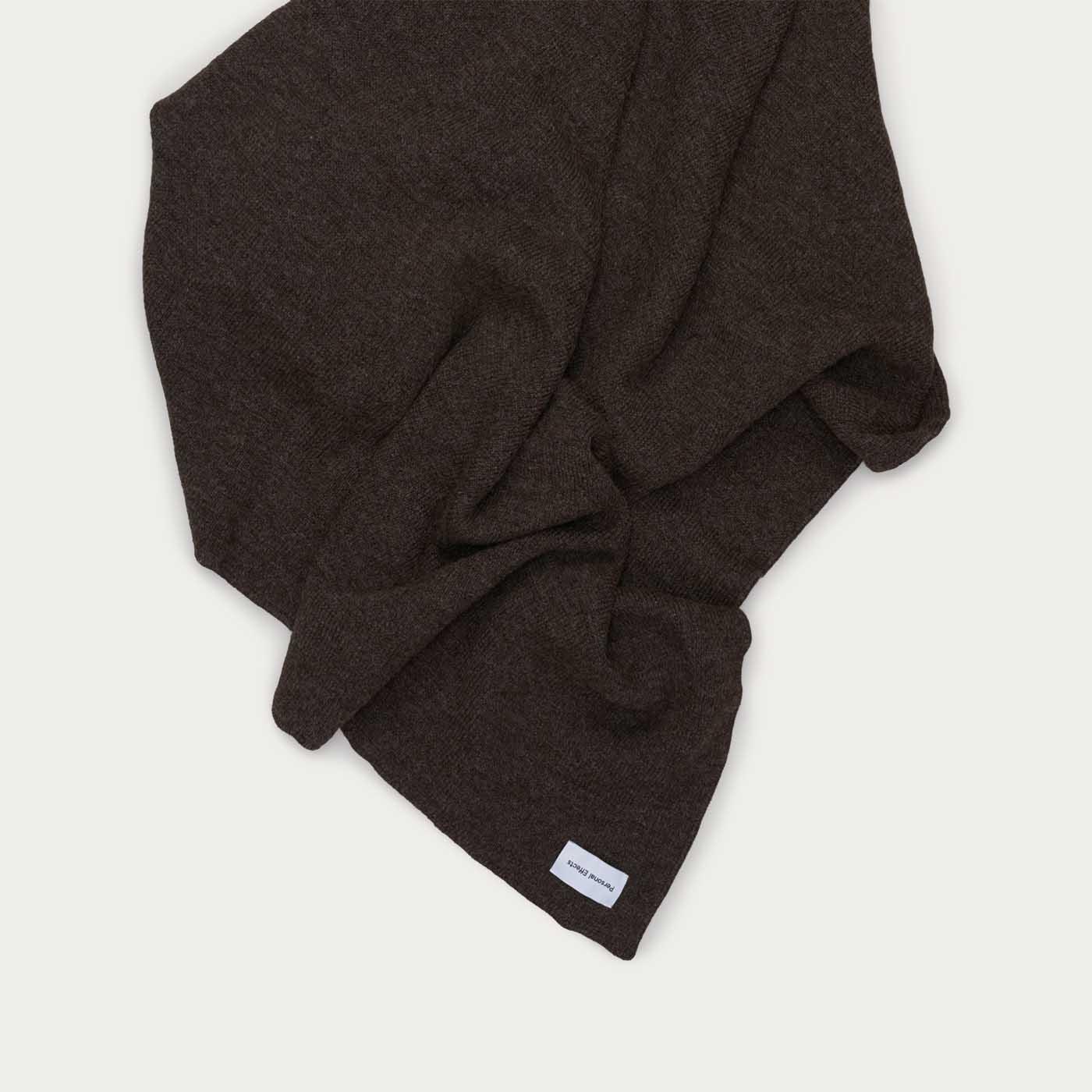 Dark Grey Shetland Blanket  | Bombinate
