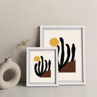 Canyon Art Print White Frame   Bombinate