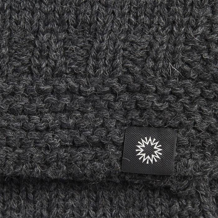 Charcoal Soft Wash Wool Scarf   Bombinate