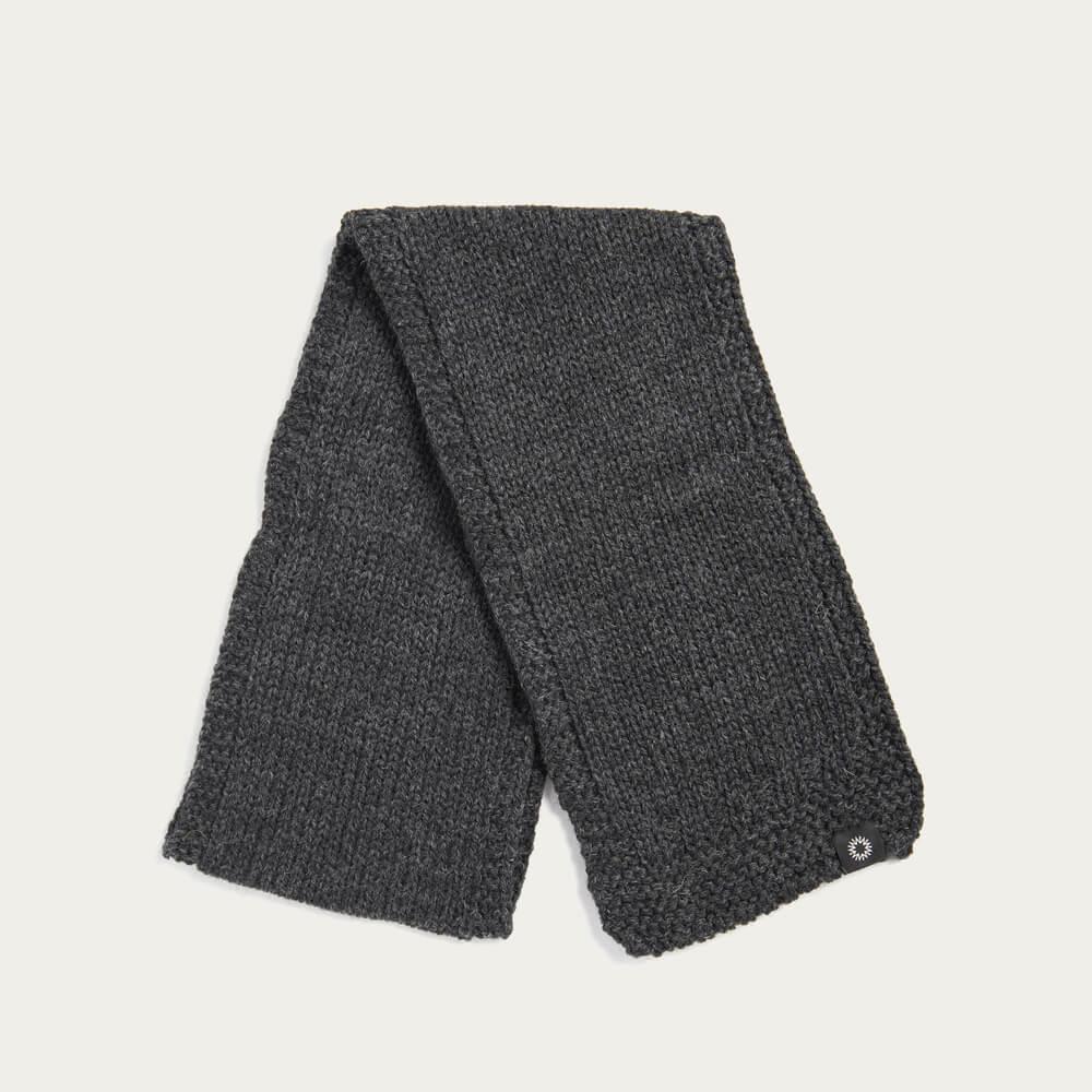 Charcoal Soft Wash Wool Scarf | Bombinate
