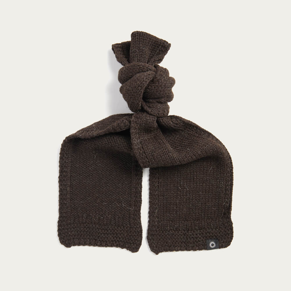 Brown Soft Wash Wool Scarf | Bombinate