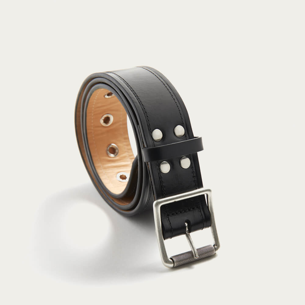 Black Leather Belt   Bombinate