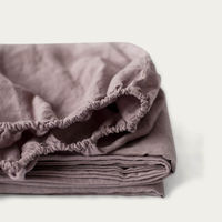 Ashes of Roses Linen Fitted Sheet | Bombinate