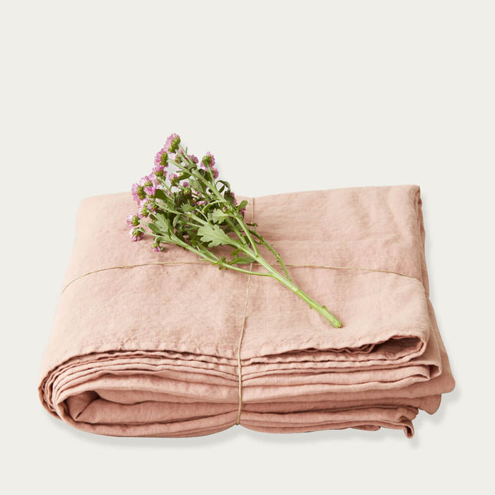 Cafe Crème Linen Bed Sheet   Bombinate