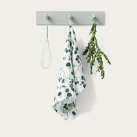 White Eucalyptus Washed Linen Tea Towel | Bombinate