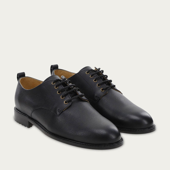 Black Grained Leather Alfred | Bombinate