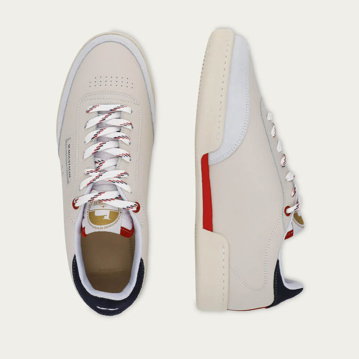 Ecru Navy and Red Leather Anatole | Bombinate