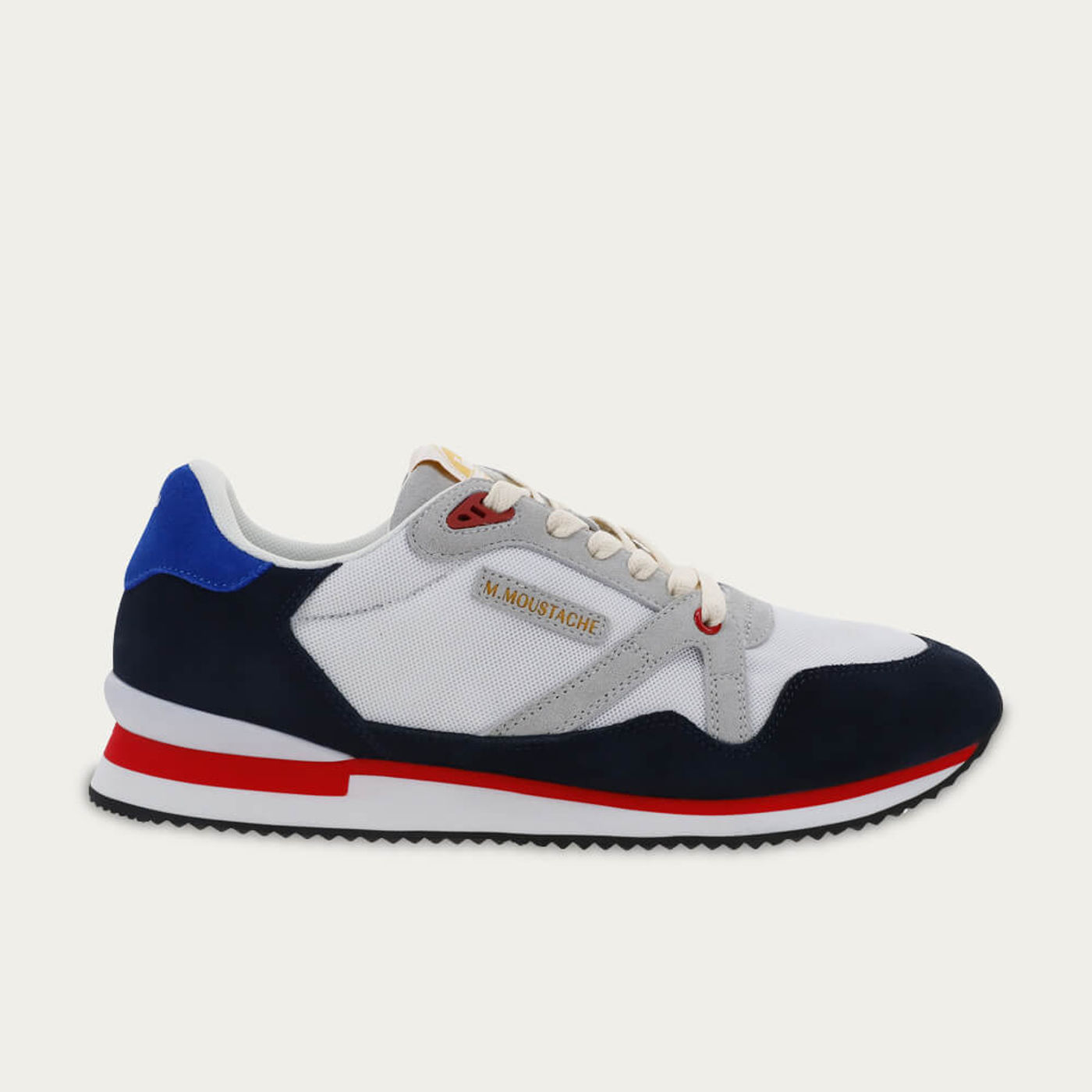 Navy Suede and White Mesh André   Bombinate