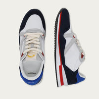 Navy Suede and White Mesh André | Bombinate