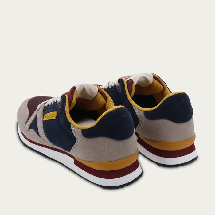 Blue Suede and Burgundy Mesh André | Bombinate