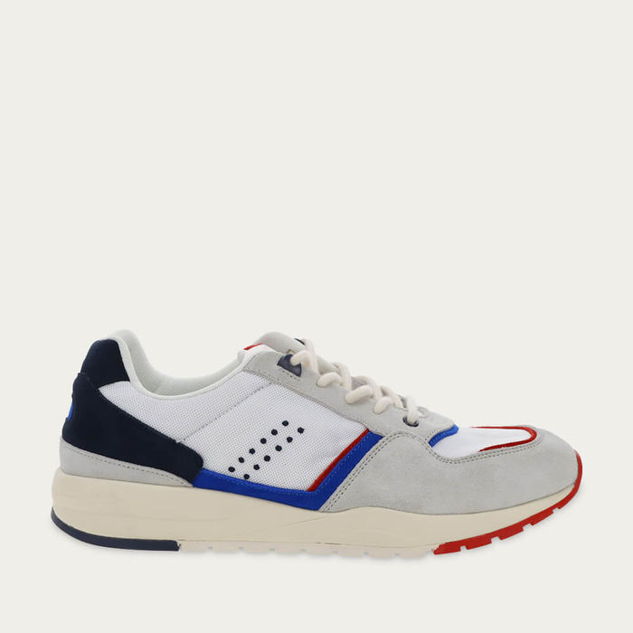 White Mesh and Navy Suede Basile   Bombinate