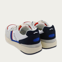 White Mesh and Navy Suede Basile | Bombinate