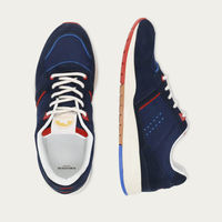 Suede Navy and Red Basile | Bombinate