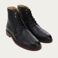 Black Grained Leather Lucien | Bombinate