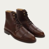 Pull-Up Grained Brown Lucien | Bombinate