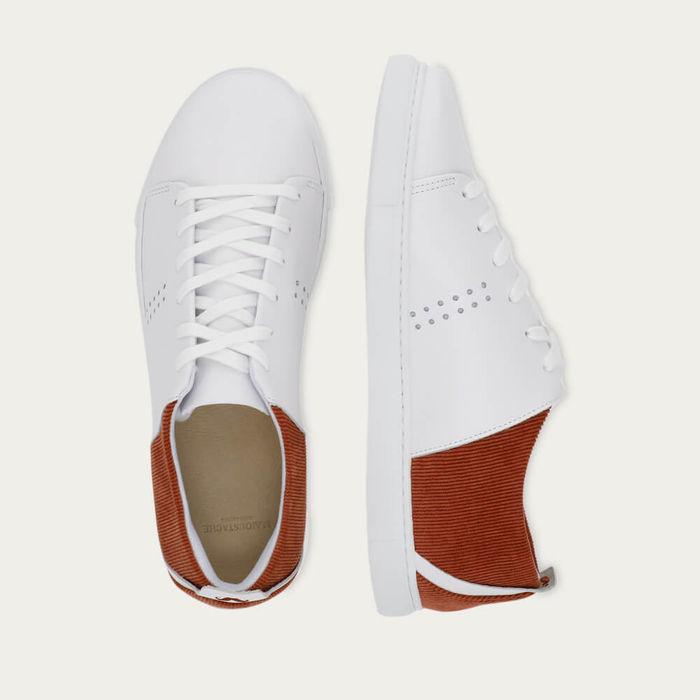 Velvet White Leather Terracota René | Bombinate