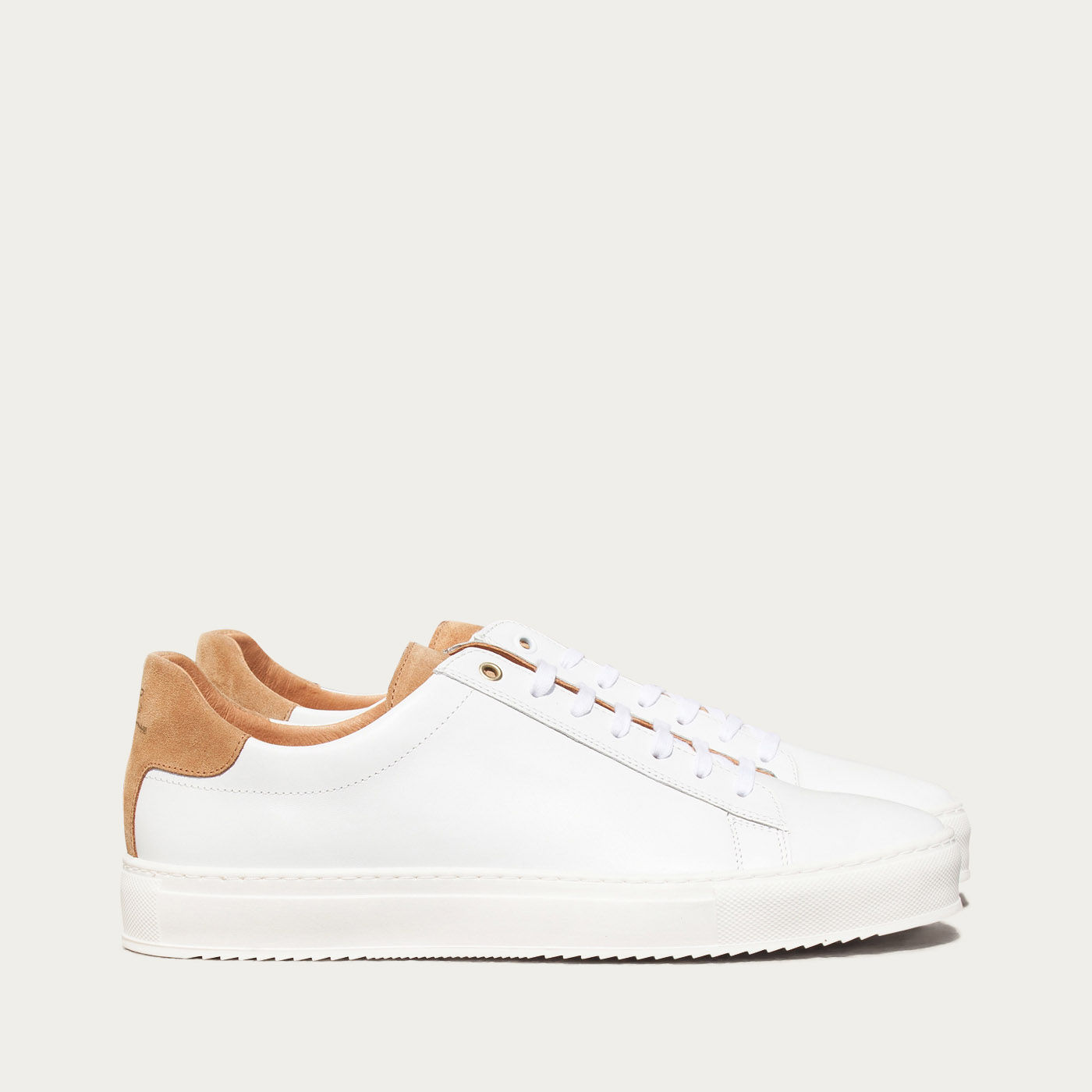 White Sand Calf Taranta Sneakers  | Bombinate