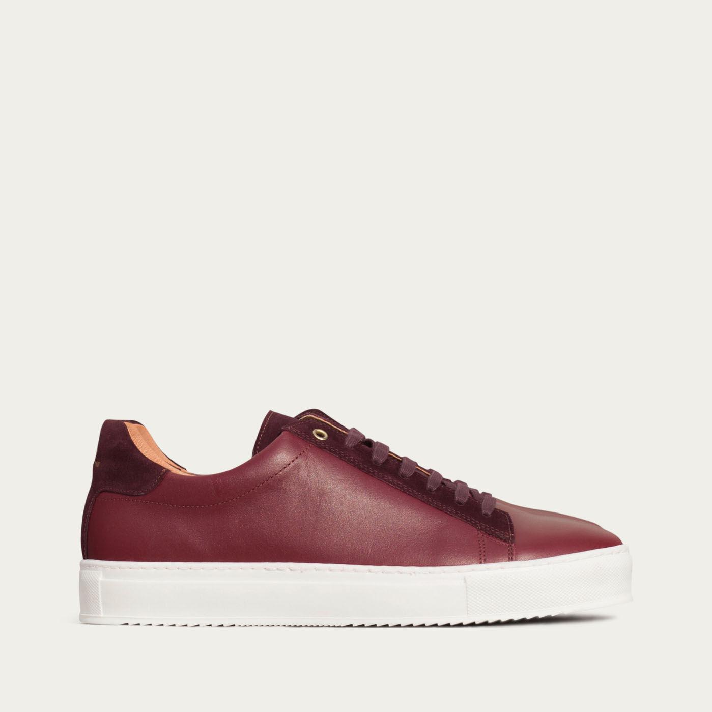 Burgundy Leather Taranta Sneakers    | Bombinate