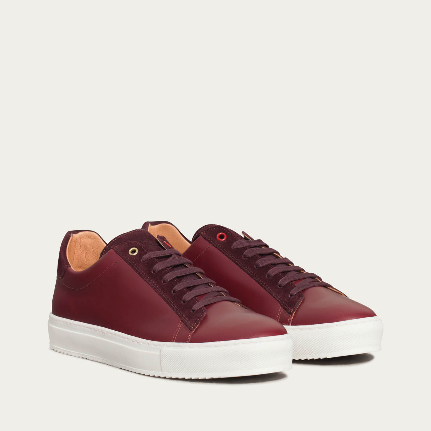 Burgundy Leather Taranta Sneakers    1