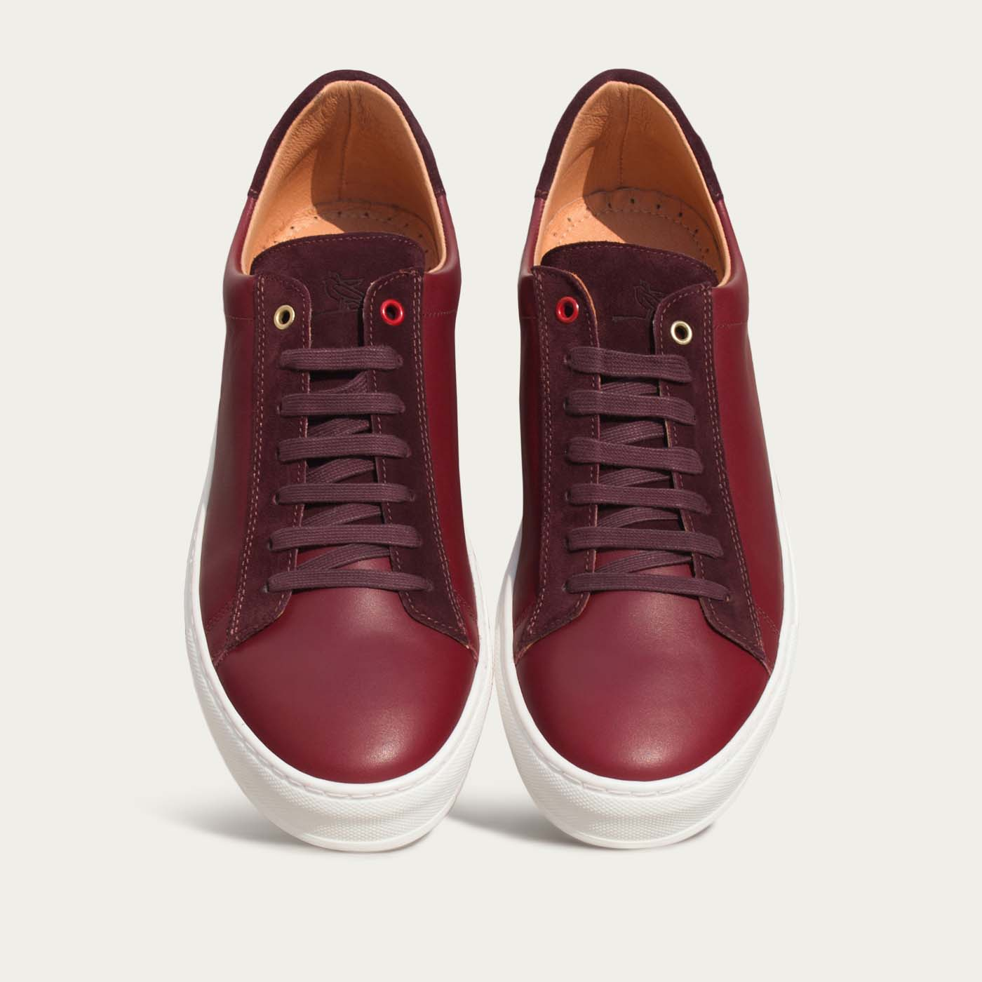 Burgundy Leather Taranta Sneakers    2