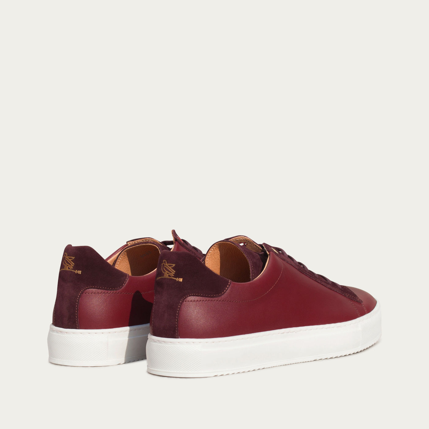 Burgundy Leather Taranta Sneakers    3