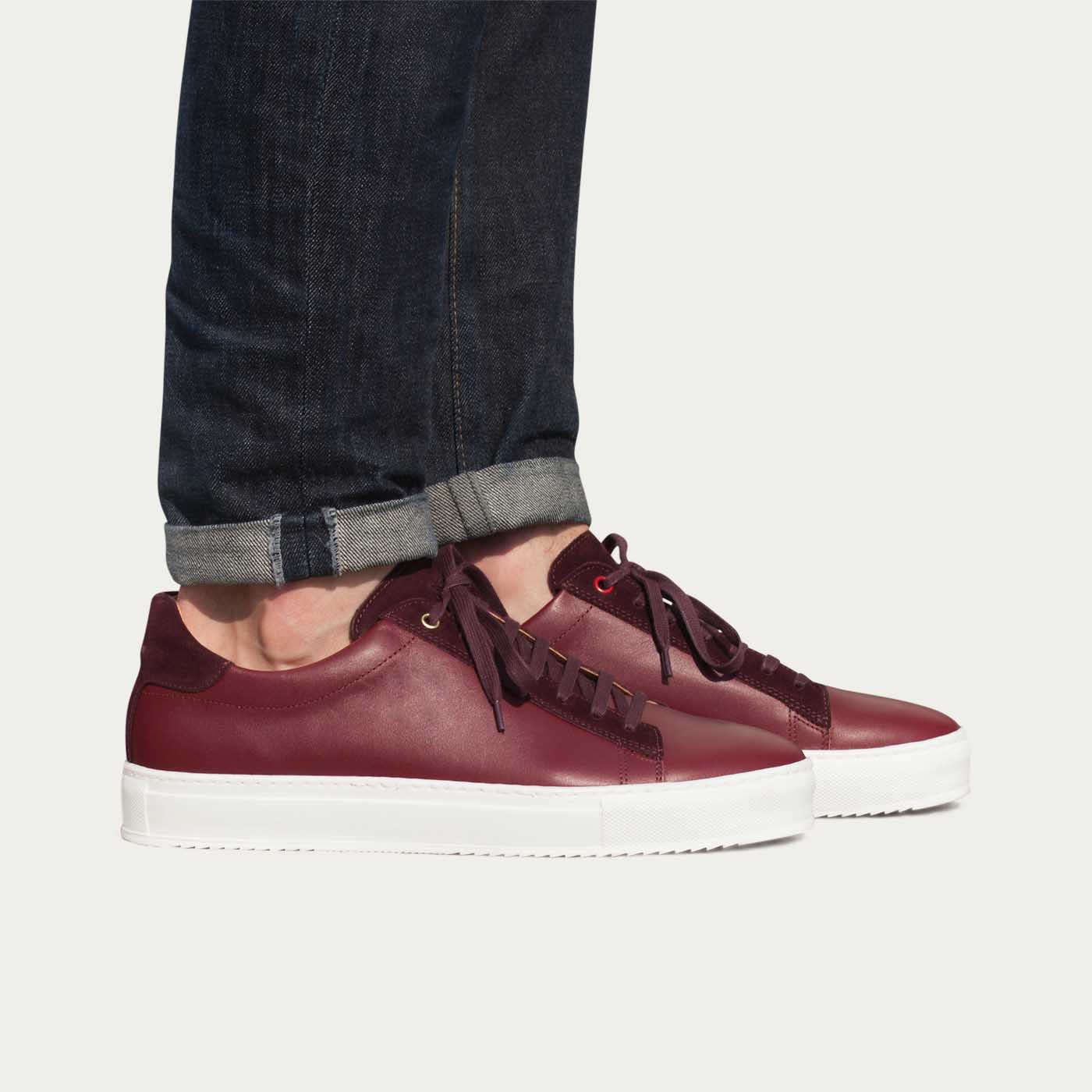 Burgundy Leather Taranta Sneakers    4
