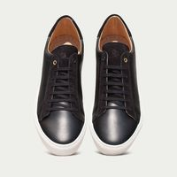 Black Leather Taranta Sneakers     Bombinate