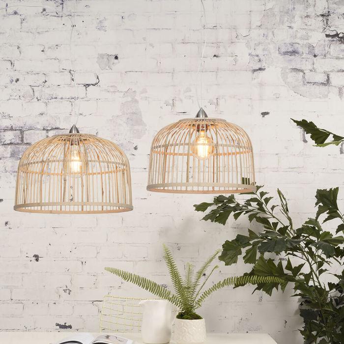 Large Borneo Bamboo Hanging Lamp | Bombinate
