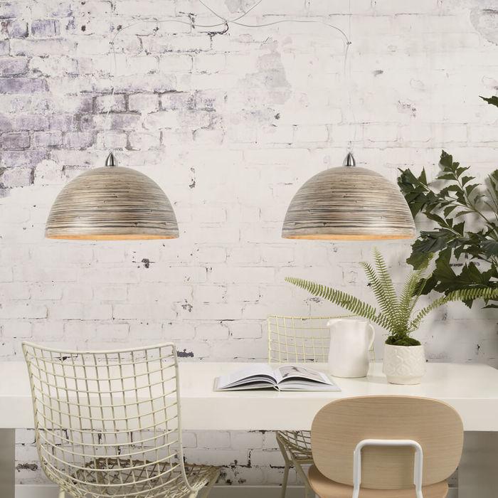 Dark Natural Halong Bamboo Hanging Lamp | Bombinate