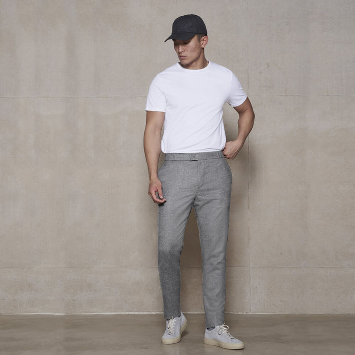 Light Grey The 24 Trouser Wool | Bombinate