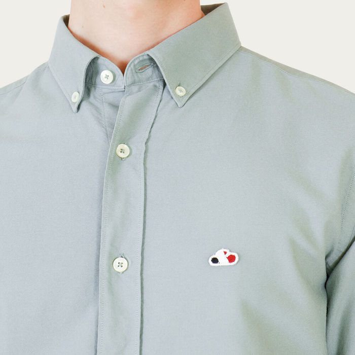 Faded Green Casual Oxford Shirt | Bombinate