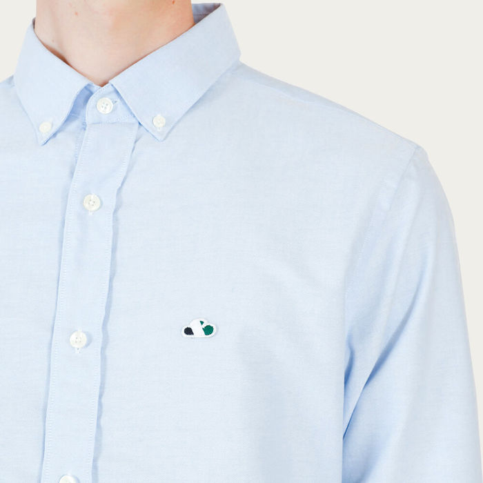 Light Blue Casual Oxford Shirt | Bombinate