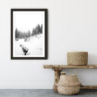 Black River Art Print Black Frame | Bombinate