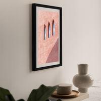 Three Windows Art Print Black Frame | Bombinate