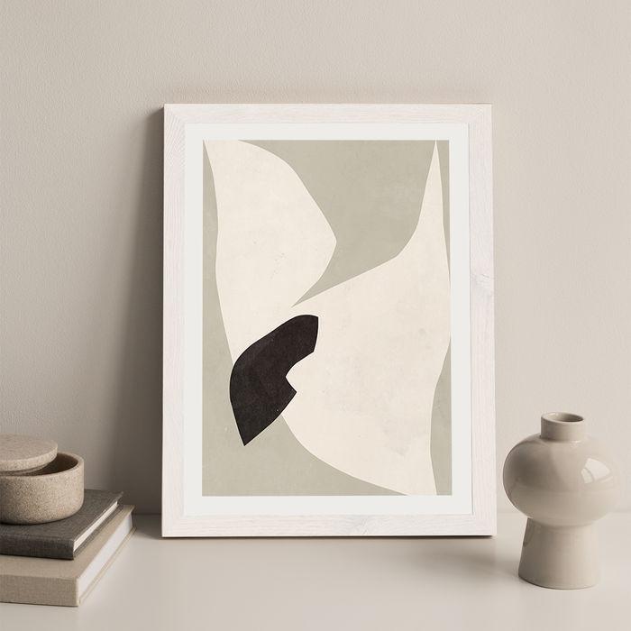 Bird No 1 Art Print White Frame | Bombinate