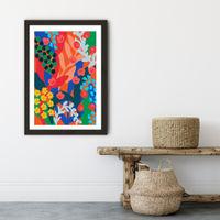 Joyful Day Art Print Black Frame | Bombinate