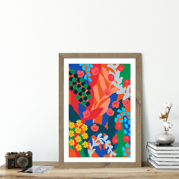 Joyful Day Art Print Oak Frame | Bombinate